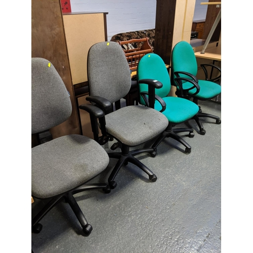 721 - Four office chairs...