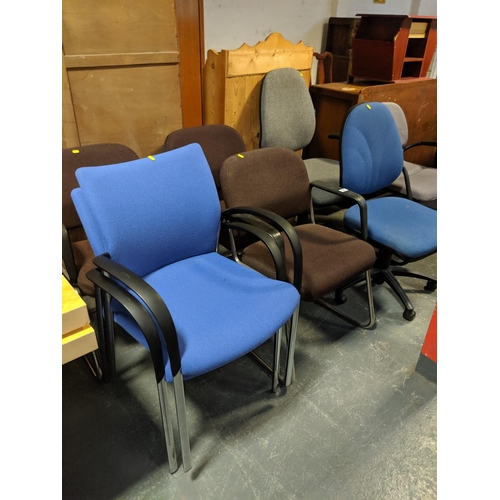 725 - A quantity of office chairs...