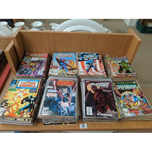 26 - A large collection of Marvel comics...