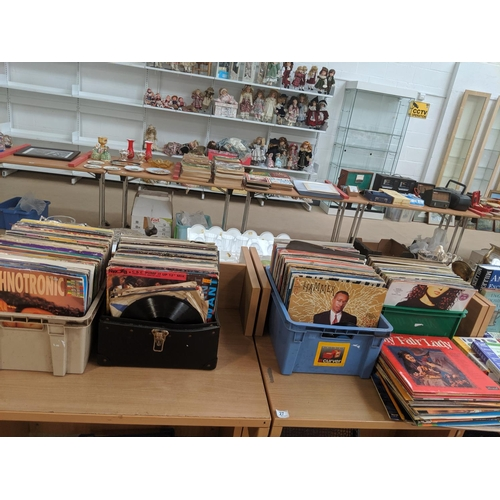 27 - A large selection of vinyl...