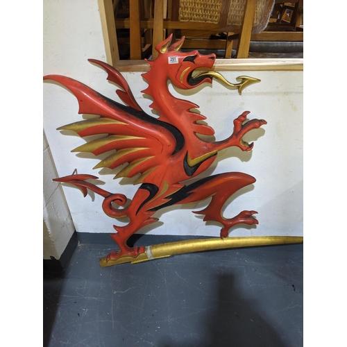 251 - A fibreglass - Brains brewery dragon...