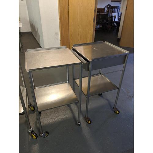 221 - Two medical trolleys...