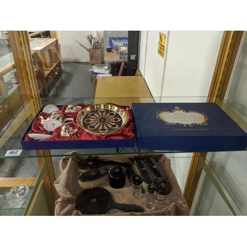 462 - A Royal Crown Derby miniature tea set...