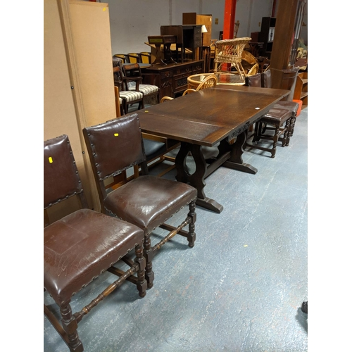 803 - An extending dining table and four chairs...