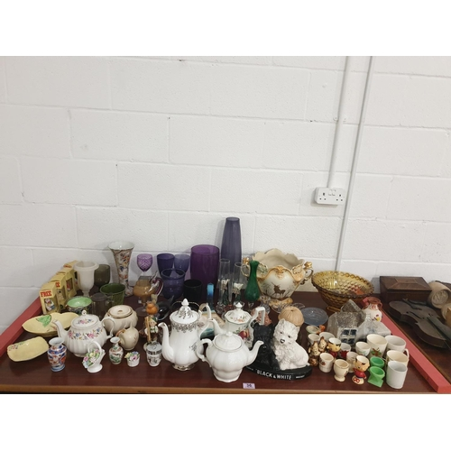 36 - Glass and china to include Murano, Carlton Ware, Maling etc...
