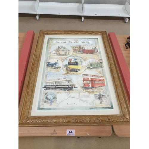 44 - A Swansea and Mumbles Railway framed print...