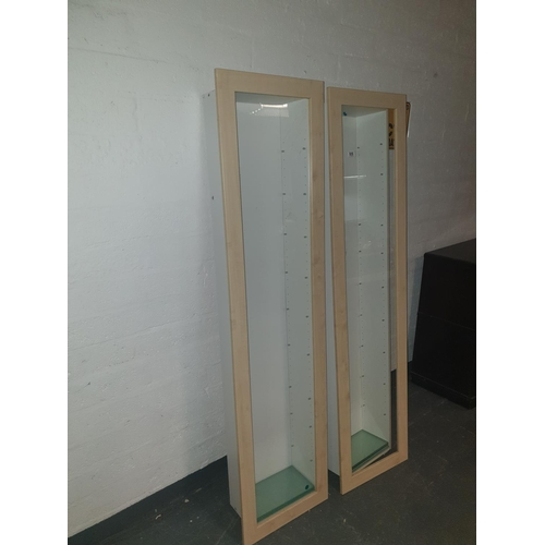 809 - Two inset display cabinets...