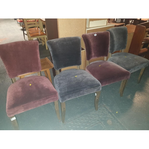 818 - Four upholstered chairs...