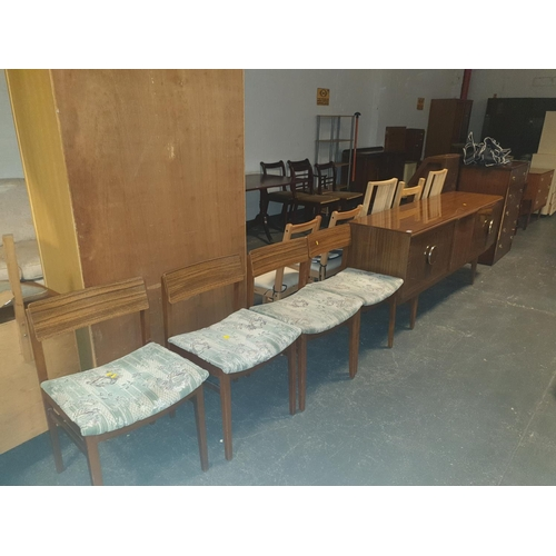 838 - A Beautility sideboard and four Beautility chairs....