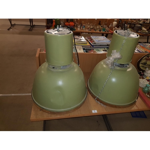 1 - A pair of industrial lamps...