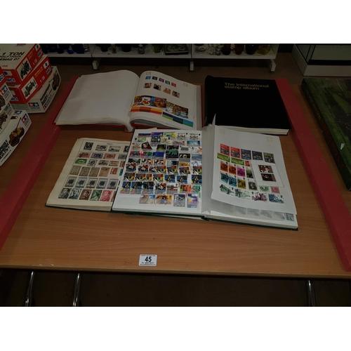 45 - Stamp albums...