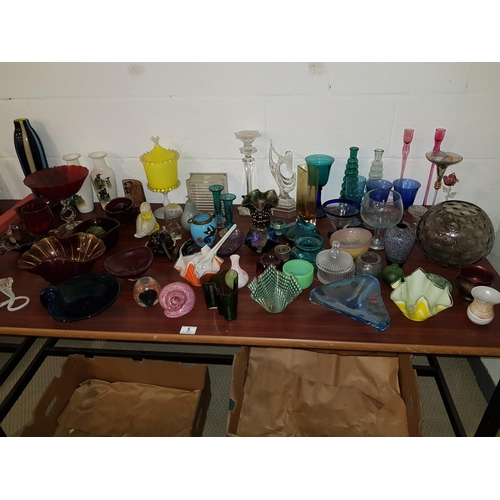 5 - A large quantity of glass and art glass...