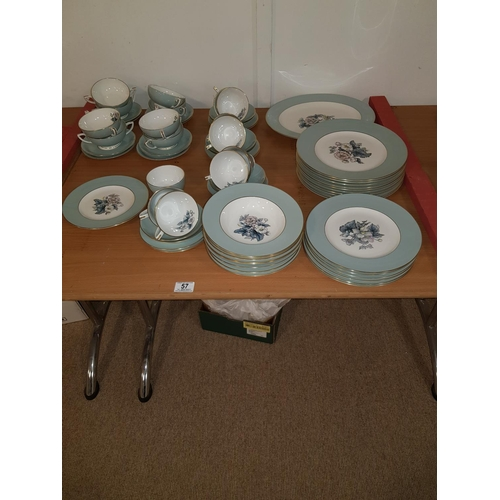 57 - A part Royal Worcester - Woodland - dinner and tea service - 66 pieces...