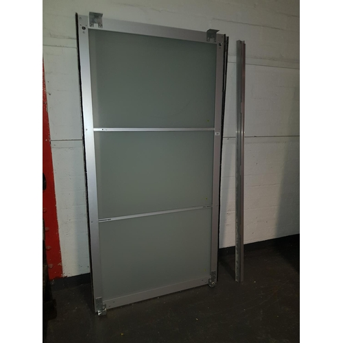304 - A pair of sliding doors...