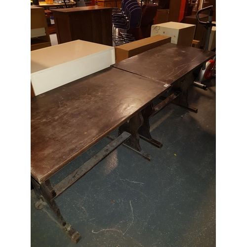 323 - Two wooden pub tables...