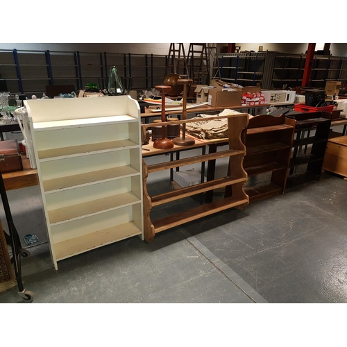 357 - Four wooden bookcases...
