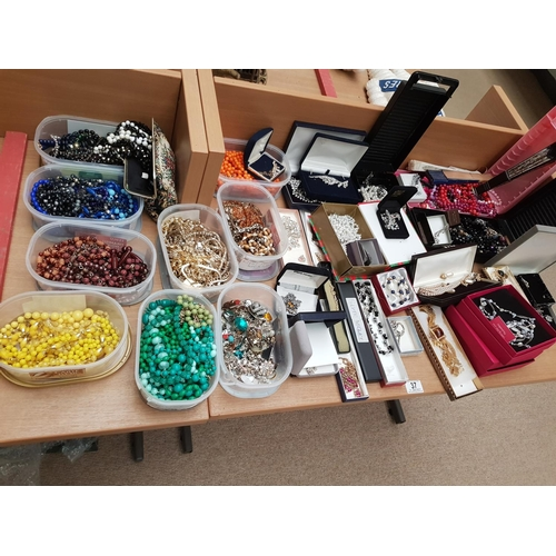 37 - A large quantity of costume jewellery...