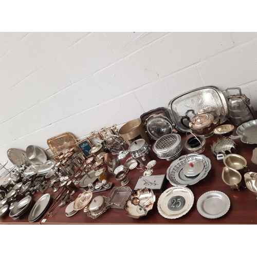 7 - A large quantity of silver plated items...
