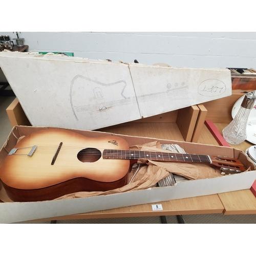 8 - An Eko six string Modelo P2 Guitar ,1960 - in original box and packing...