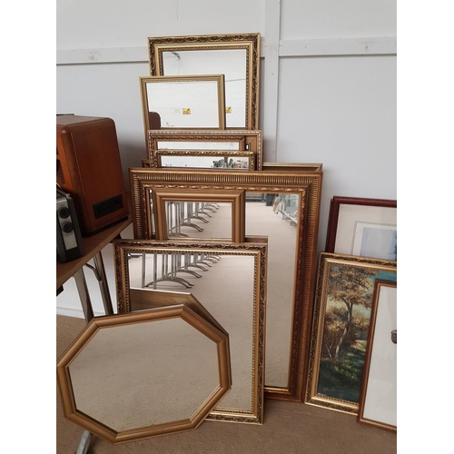 85a - A selection of gilt framed mirrors...