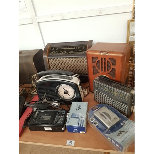 86 - A vintage GEC valve radio, Steepltone collectors edition radio etc...