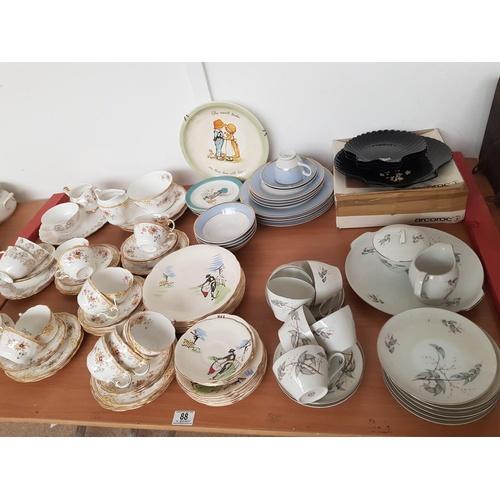 88 - Part tea sets etc including Royal Douton, Broadhurst etc...