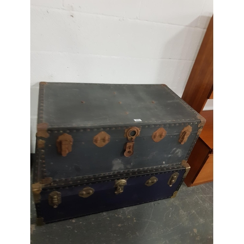 203 - Two travel trunks