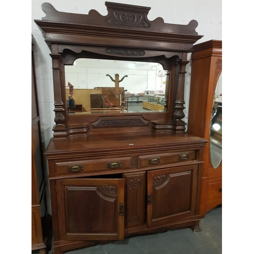 206 - A mahogany mirrored back sideboard...