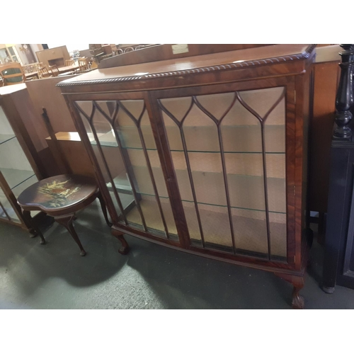 210 - A glazed glass fronted display cabinet...