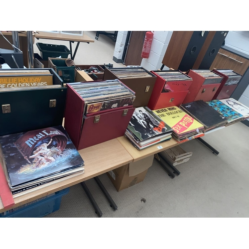 17 - A large collection of vinyl including Led Zeppelin, Pink Floyd, The Clash, The Beatles etc....