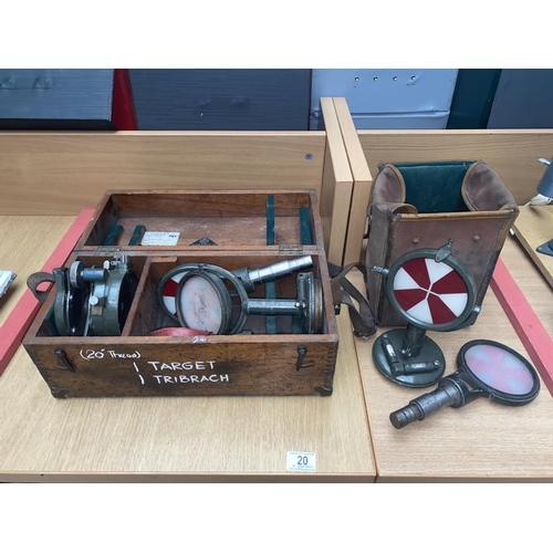 20 - A boxed 'Bedwas Colliery' watts theodolite...
