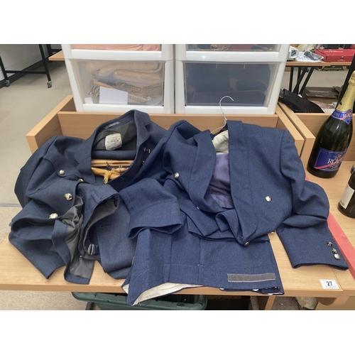 27 - Two RAF military uniforms...