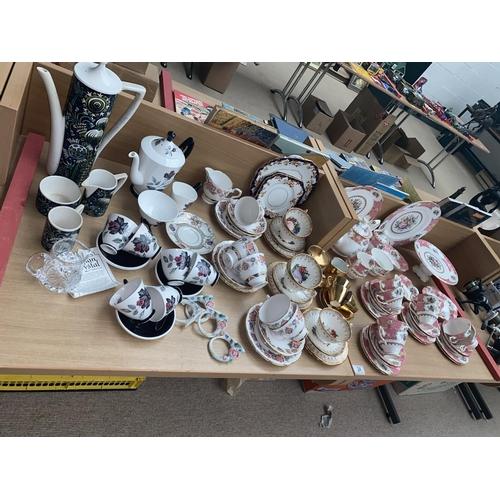 34 - Royal Albert bone china' Lady Carlyle' tea set, Royal Albert 'Masquerade' part coffee set etc....
