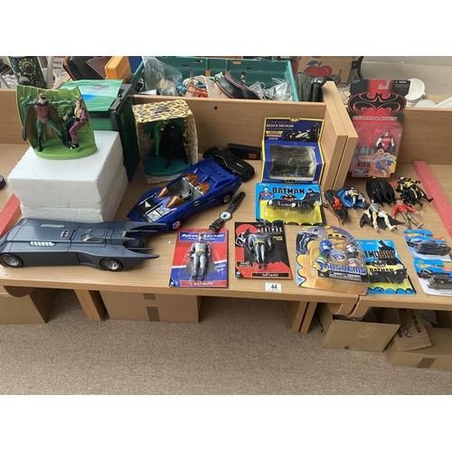 44 - A collection of Batman figures,vehicles etc....