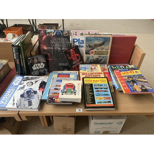 46 - A selection of toy and film related reference books including Star Wars etc....