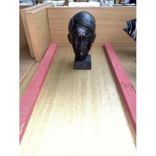 23 - A cast iron hitler bust...
