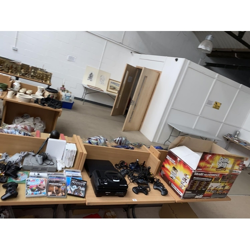 29 - A Guitar Hero PS3 game, 16 bit Sega Mega Drive, PlayStation 3, PS1 games, Joysticks etc....