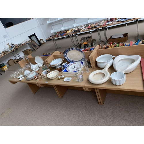 30 - Mixed glass and china including Royal Albert, Goebel etc....