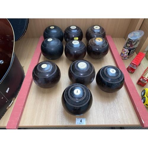 4 - 10 vintage wooden bowls...
