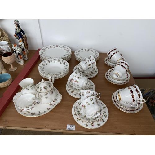 52 - A Royal Albert ' Winsome' part dinner service and a Paragon part tea set...