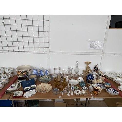53 - Mixed glass and fine china including Royal Worcester, Minton, Royal Albert etc....