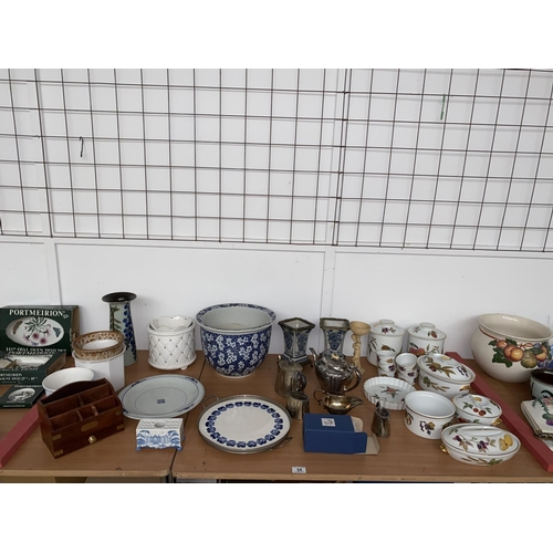 54 - Royal Worcester Evesham, silver plated items, mixed china etc....
