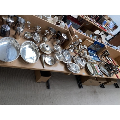 14 - A quantity of silver plated items...