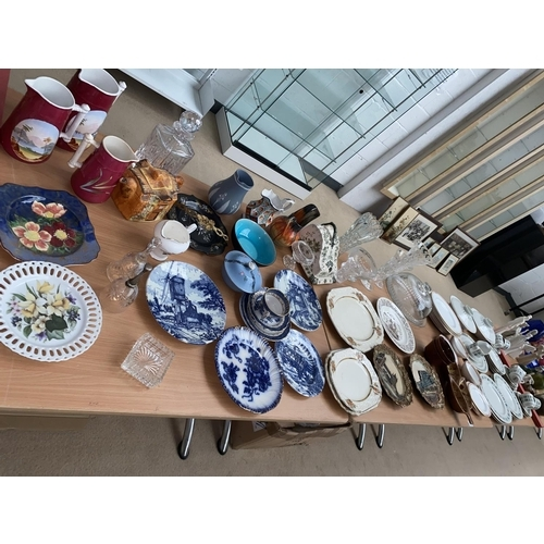 41 - Mixed glass and china including Royal Doulton ' Tapestry' part dinner service...