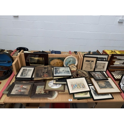 12 - A quantity of pictures, prints and frames...