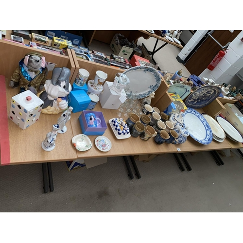 16 - Large platters, mixed glass and china including ceramics etc....