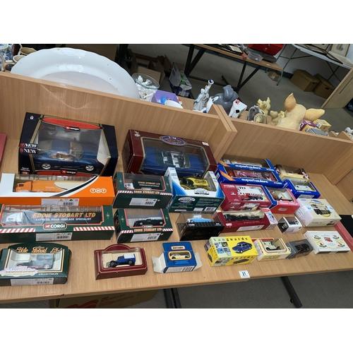 21 - A collection of boxed vehicles, Corgi Eddie Stobart, Matchbox, Corgi Super Haulers, Burago etc....