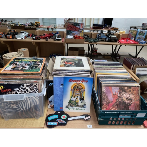 27 - A large quantity of mixed Vinyl LP's mostly Rock and Pop...