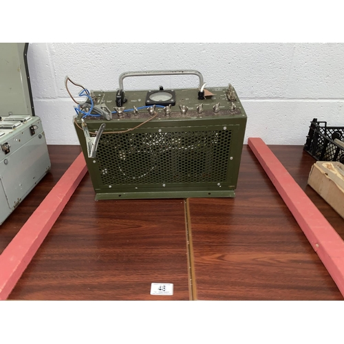 48 - A military issue power distribution No. 8 serial number 595...