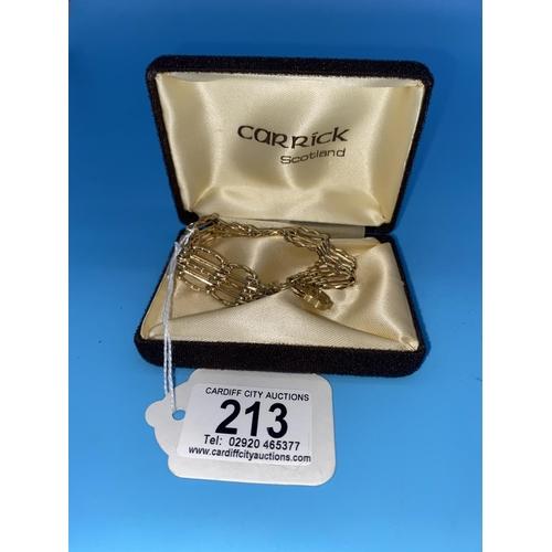 213 - A 9k gold gate bracelet - 19 grams